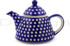 Polish Pottery 40 oz Tea or Coffee Pot | Boleslawiec Stoneware | Polmedia H9825F | ArtisanImports.com