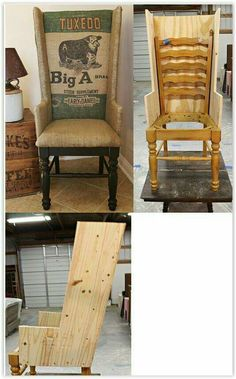 recycler, améliorer une vieille chaise 21 Ways to Upcycle a Chair Refurbished Furniture, Repurposed Furniture, Furniture Makeover, Painted Furniture, Stain Furniture, Dining Chair Makeover, Furniture Stores, Furniture Plans, Furniture Refinishing