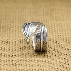 Men's Sterling Silver Two-Tone Feather Cuff Bracelet Mens Silver Jewelry, Silver Bracelets, Sterling Silver Jewelry, Feather Jewelry, Silver Dragon, Native American Jewelry, Rings For Men, Wraps, Biker