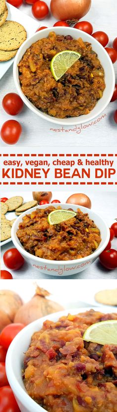 Spicy Kidney Bean Tomato Dip Spicy kidney bean tomato dip – easy, cheap and h. Spicy Kidney Bean Tomato Dip Spicy kidney bean tomato dip – easy, cheap and healthy Healthy Filling Meals, Healthy Dips, Easy Healthy Recipes, Easy Meals, Vegan Recipes, Healthy Habits, Vegan Food, Drink Recipes, Healthy Eating
