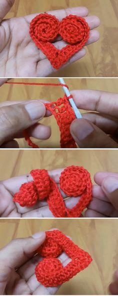 How to Crochet Heart with Roses