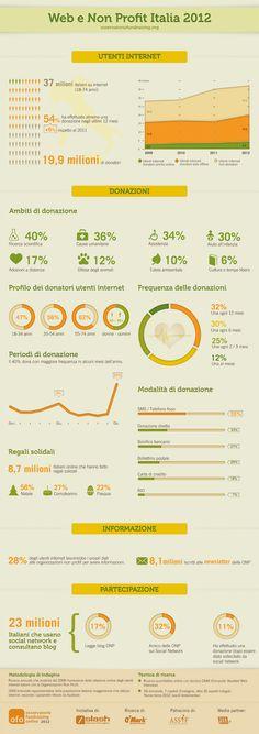 Infografica su ricerca Osservatorio Fundraising 2012