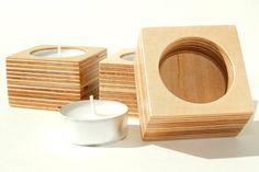 Abedul madera contrachapada titulares-juego de té de por MAATALO