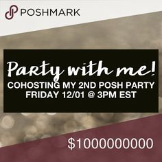 Theme Announced! I'm co-hosting my second posh party!  • December 1, 2017 @ 3:00 PM EST • Best in Shoes & Boots Party • Co-hosts: @promisedbride & @ barriebailey  I'm looking for:  • Posh compliant closets  • Clear cover-shots • Closets that haven't had a host pick Shoes