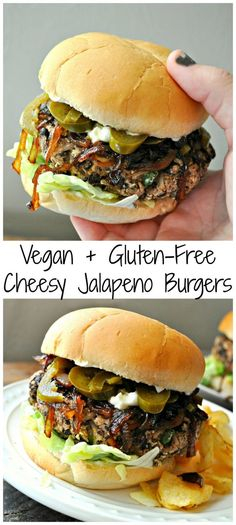 Vegan Cheesy Jalapeno Burgers Vegan Cheesy Jalapeno Burgers These Vegan Cheesy Jalapeno Burgers Are Gluten Free Filled With Protein And Totally Delicious Vegan Cheesy Jalapeno Burgers Rabbit And Wolves Veganrecipes Vegan Glutenfree Veggieburgers Jalapeno Burger, Jalapeno Recipes, Vegan Foods, Vegan Dishes, Food Dishes, Whole Foods, Whole Food Recipes, Sandwich Vegan, Vegan Sandwiches