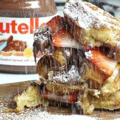 #Nutella French Toast #Waffles @foodsteez #frenchtoast