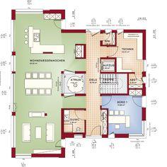 """Virtuelle Besichtigung Große Glasflächen, ein """"schwebender"""" Wohnkörper mit Geschoss hohen Fensterelementen und ein klassisches Satteldach – das CONCEPT-M 210 Musterhaus in Günzburg begeistert mit außergewöhnlicher Architektur und im Inneren mit Design und Wohnkomfort. Großzügige Wohnflächen, kombiniert mit ruhig gelegenen Rückzugsräumen, sorgen für höchsten Wohngenuss. Einige Besonderheiten: das mit einem echten Baum begrünte Atrium, der Wasserdampfkamin zwischen Wohn- und Essbereich, der…"""