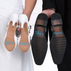 "This pair of silver ""I Do"" and ""Me Too"" shoes stickers make a cute gift for the bride and groom. Sizes: Each word measures inches tall. The ""I"" is inches wide, the ""Do"" is 1 inch wide, the ""Me shoes ideas I Do, Me Too Shoe Stickers Wedding Gifts For Bride And Groom, Bride Gifts, On Your Wedding Day, Bride Groom, Groom Gifts, Gift Wedding, Wedding Bride, Wedding Photography Poses, Wedding Poses"
