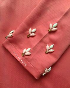 The sleeves. #beadwork #beading #beadingservice #beadermalaysia #chunkybeads #sayajahitbeads #sayajahitmanik