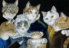 Susan Herbert recreates famous paintings, but puts a cat face in place of the people! Description from pinterest.com. I searched for this on bing.com/images