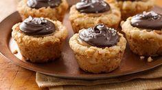 Salted Caramel-Cashew Cookie Tarts