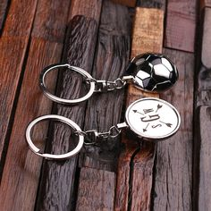 Personalized Monogrammed Soccer Ball Key Chain Men by TealsPrairie