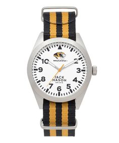 Look at this Missouri Tigers Stripe NATO-Strap Watch on #zulily today!
