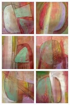 Michèle Brown Artist - The Old Cells Studio: Six little abstract exercises in Acrylics