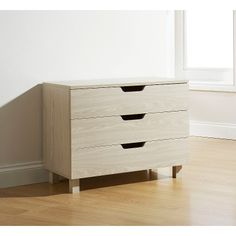 40W x 61D x 62H cm should be short enough if I don't put the legs on....would like it a bit longer though. Presume they've got measurements muddled! Viborg 3 Drawer Chest of Drawers in Beige Oak | Chests of Drawers | ASDA direct
