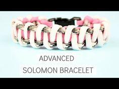 ADVANCED SOLOMON BRACELET WITH BUCKLE PARACORD TUTORIAL - YouTube