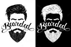 Logo bearded black by Toni Art on @creativemarket