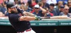 Cleveland Indians Mike Napoli connects for a 2 run home run in the 3rd inning, against the Oakland Athletics at Progressive Field in Cleveland, Ohio on July 31, 2016.   It was Mike Napoli's 1000th career hit. Indians won 8-0 (Chuck Crow/The Plain Dealer)