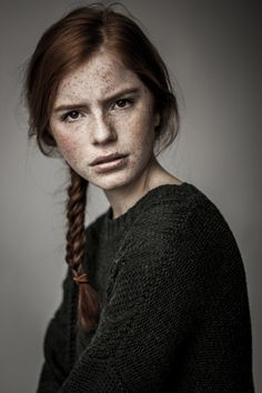 definitelydope: By Agata Serge - redhead. Freckles, facial expressions,  red hair