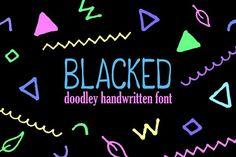 Blacked Doodle Handwritten Script  - Serif