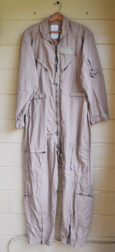 Vintage Military Issue Tan Flyers Coveralls by founditinatlanta, $78.00