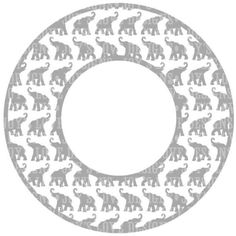 Elephant Monogram Frame SVG and DXF Digital by JoysLoveDesigns