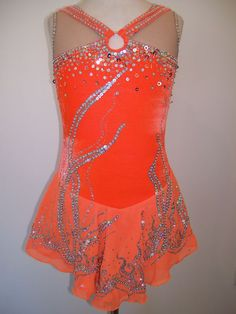 Ice Figure Skating dress/Baton Twirling leotard/Dance/Tap costume Made
