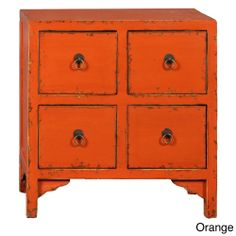 Wood 4-drawer End Table | Overstock.com Shopping - Great Deals on Accent Pieces