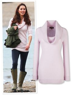Kate Middleton's pink sweater looks really nice. For me, I would go with an Orange Spice color! Love this.