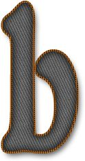 Alfabeto Decorativo: Alfabeto - Jeans - PNG