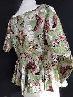 All The Pretty Dresses: 18th Century Caraco Jacket circa 1740's