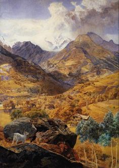 """The Val d'Aosta"" (1858) by English painter John Brett. Oil on canvas."