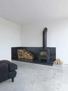 35 Cool Scandinavian Fireplace Design Ideas To Amaze Your Guests Home Fireplace, Fireplace Design, Fireplace Ideas, Black Fireplace, Gas Stove Fireplace, Wood Burner Fireplace, Minimalist Fireplace, Simple Fireplace, Pellet Stove