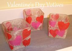 Making Memories With Your Kids: Valentine's Day Votive Candles