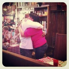 Congrats to Katherine and Damon who just now got engaged at Hueys Poplar! They had their first date here 3 years ago.