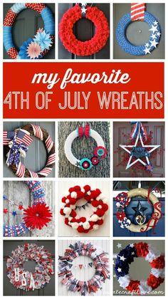 My Favorite Fourth of July Wreaths - Create Craft Love   Create Craft Love