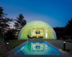 geodesic dome homes   geodesic dome pool house