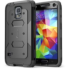 Galaxy S5 Case, i-Blason Armorbox Dual Layer Hybrid Full-body Protective Case with Front Cover and Built-in Screen Protector / Impact Resistant Bumpers for Samsung Galaxy S5 (Black) - http://www.rekomande.com/galaxy-s5-case-i-blason-armorbox-dual-layer-hybrid-full-body-protective-case-with-front-cover-and-built-in-screen-protector-impact-resistant-bumpers-for-samsung-galaxy-s5-black/