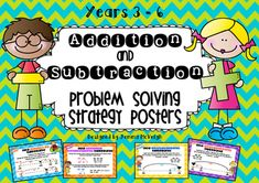 Free Addition and Subtraction Problem Solving Strategy Posters ~ Miss Mac Attack ~