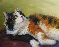 Paintings Of cats or kittens | Oil Painting Cat Art Pets Animals