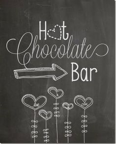 Free Valentine's hot chocolate bar printable