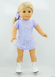 Doll Ice Skating Dress  Sparkle Sweetheart by CaraAnneDesigns, $30.00