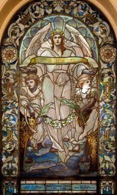 Tiffany Glass Window, Upper level, Arlington Street Church, Boston