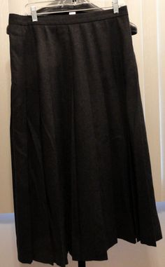 JH Collectibles size 16 gray wool pleated long skirt modest no slit #JHCollectibles #Longpleatedskirt