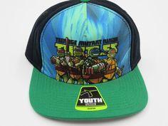 Teenage Mutant Ninja Turtles Green Youth Childrens Size Snapback Hat Cap  #Bioworld #BaseballCap