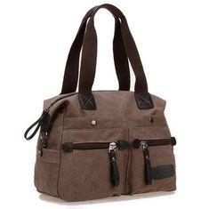 a856810f88c Collection Mid-Year Big Sale - Banggood Ekphero las mujeres de los hombres  de la lona de bolsillo de multi bolsos casual
