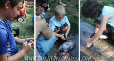 Superhero Birthday Party! ~ Creative Green Living- Superhero Ice rescue! Freeze plastic heros in the ice, use spraybottles to melt the ice and rescue the heros!