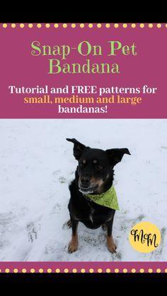 Snap On Bandana BAOUL Bandana Pet Bandana