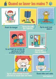 Grippes, gastro-entérites et bien-sûr Coronavirus, se laver les mains est un geste dont on mesure plus particulièrement encore l'importance en ce moment. Hop'Toys vous a donc préparé une série d'affiches à imprimer et à afficher chez vous pour apprendre aux enfants (et aux grands ;-)) à bien se laver les mains ! I Can Do It, Kids Education, Kids And Parenting, Montessori, Make It Simple, Classroom, Activities, Comics, Blog