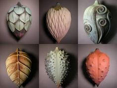 My high school ceramic teacher's work popped up on Pinterest! :) Alice Ballard pods.